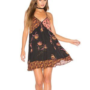 FREE PEOPLE All Mixed Up Slip Dress in Black-XS,S